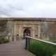 Detalle de la entrada de la Ciudadela de Roses