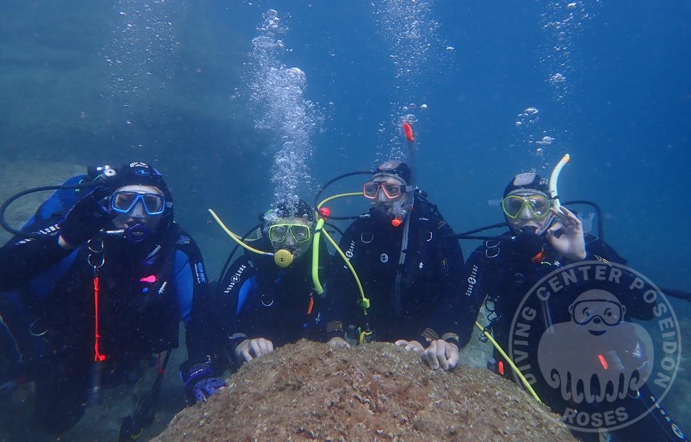 Cursos de buceo Costa Brava. Cursos de submarinismo. Bautizos de mar