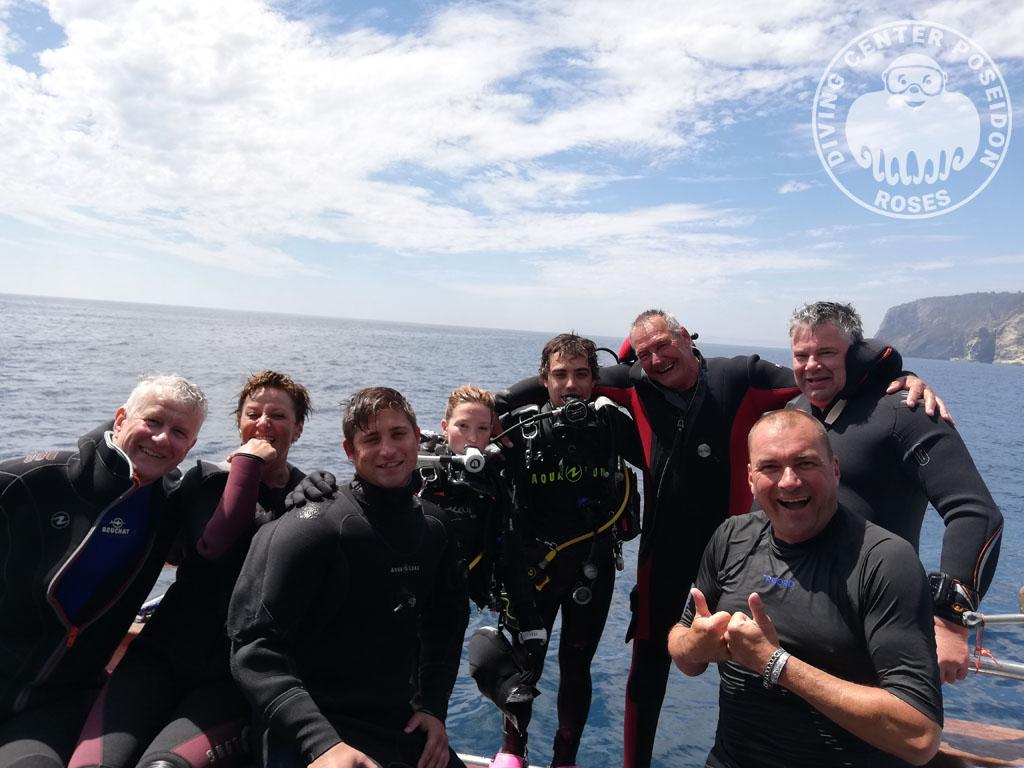Final de inmersión en el Cpa de Creus con submarinistas de Poseidon Roses